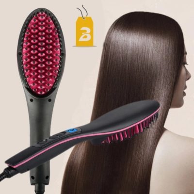 Brosse à cheveux lissante chauffante bigchicdeal