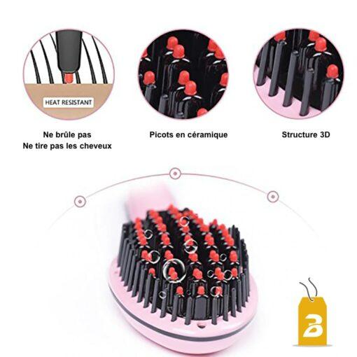 Détail 4 de la brosse à cheveux lissante chauffante bigchicdeal